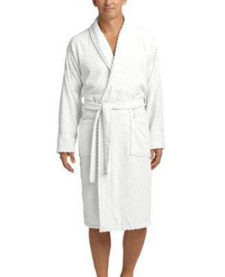 Port Authority R103    Checkered Terry Shawl Collar Robe Catalog