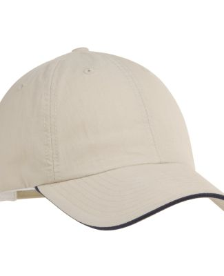 Port Authority C852    Sandwich Bill Cap Beige/Navy