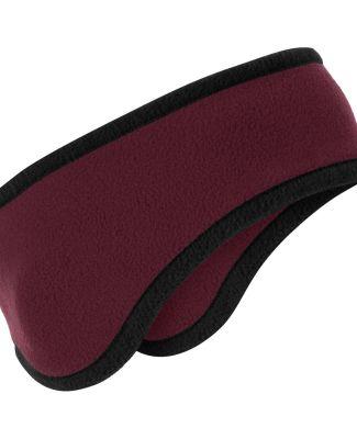 Port Authority C916    Two-Color Fleece Headband Maroon
