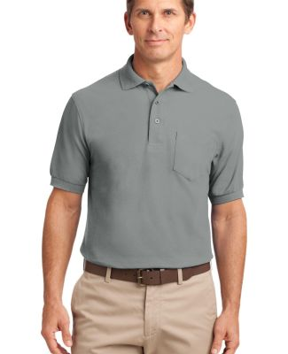 Port Authority TLK500P    Tall Silk Touch Polo wit Cool Grey