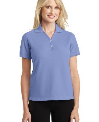 Port Authority L448    Ladies 100% Pima Cotton Pol Blueberry