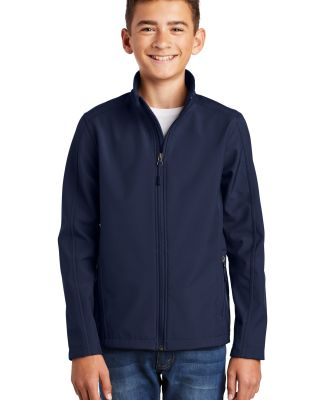 Port Authority Y317    Youth Core Soft Shell Jacke Dress Blue Nvy