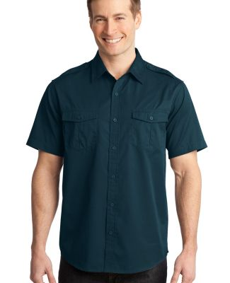 Port Authority S648    Stain-Release Short Sleeve  Ultra Blue