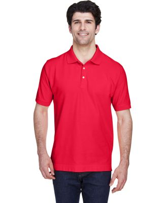 D100 Devon & Jones Men's Pima Pique Short-Sleeve P RED