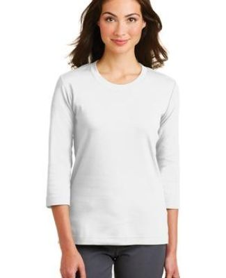 Port Authority L517    Ladies Modern Stretch Cotton 3/4-Sleeve Scoop Neck Shirt Catalog