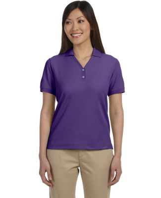 D100W Devon & Jones Ladies' Pima Pique Short-Sle PURPLE