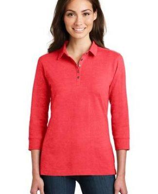 Port Authority L578    Ladies 3/4-Sleeve Meridian Cotton Blend Polo Catalog