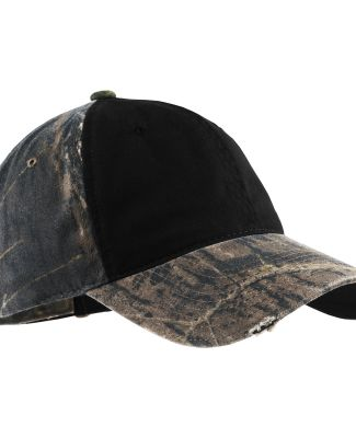 Port Authority C807    Camo Cap with Contrast Fron MO NW BRK/BLK