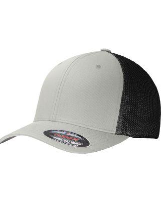 Port Authority C812    Flexfit   Mesh Back Cap Silver/Black