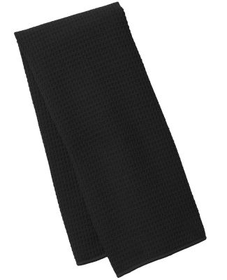 Port Authority TW59    Waffle Microfiber Fitness T Black