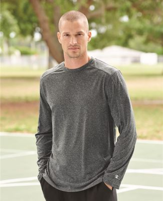 Champion CV26 Vapor Performance Heather Long Sleeve T-Shirt Catalog