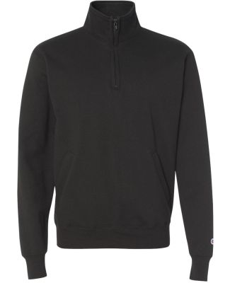 Champion S400 Double Dry Eco 1/4 Zip Pullover Black