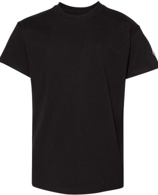 Champion T435 Youth Short Sleeve Tagless T-Shirt Black