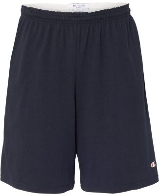 "Champion 8180 9"" Inseam Cotton Jersey Shorts with  Navy"