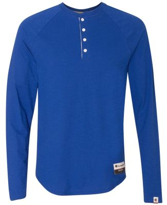 Champion AO380 Authentic Originals Slub Henley Athletic Royal