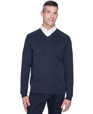 D475 Devon & Jones Men's V-Neck Sweater NAVY