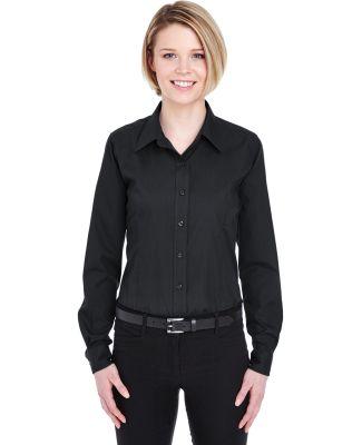 UltraClub 8355L Ladies' Easy-Care Broadcloth BLACK