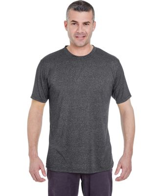 UltraClub 8619 Men's Cool & Dry Heathered Performa BLACK HEATHER
