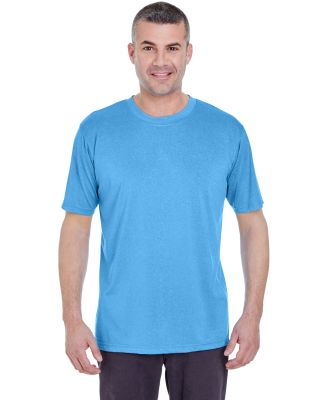 UltraClub 8619 Men's Cool & Dry Heathered Performa COLUMBIA BLU HTH