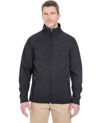 UltraClub 8265 Men's Soft Shell Jacket BLACK