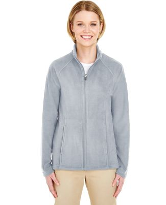 UltraClub 8181 Ladies' Cool & Dry Full-Zip Microfl SILVER