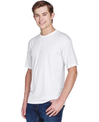 UltraClub 8620 Men's Cool & Dry Basic Performance  WHITE