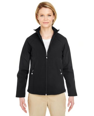 UltraClub 8265L Ladies' Soft Shell Jacket BLACK