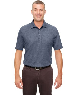 UltraClub UC100 Men's Heathered Pique Polo NAVY HEATHER