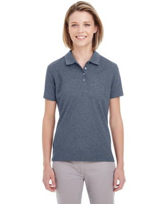 UltraClub UC100W Ladies' Heathered Pique Polo NAVY HEATHER