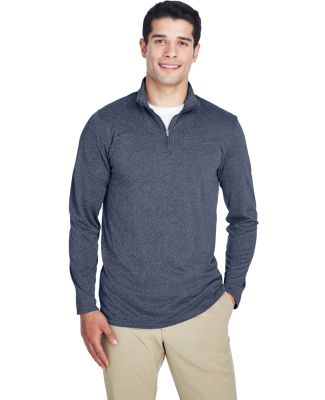 UltraClub 8618 Men's Cool & Dry Heathered Performa NAVY HEATHER