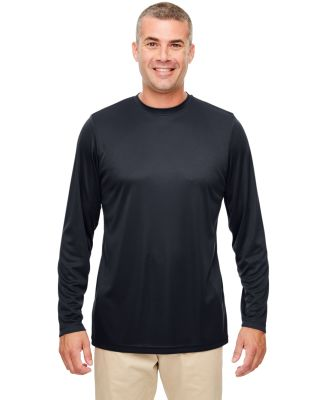 UltraClub 8622 Men's Cool & Dry Performance Long-S BLACK