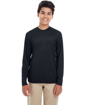 UltraClub 8622Y Youth Cool & Dry Performance Long- BLACK