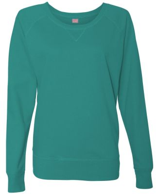 LAT 3762 Women's Slouchy French Terry Pullover JADE