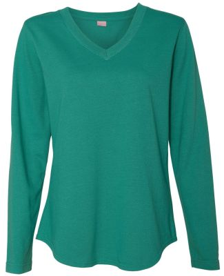 LAT 3761 Women's V-Neck French Terry Pullover JADE