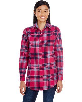 Backpacker BP7030 Ladies' Yarn-Dyed Flannel Shirt BLUE STUART