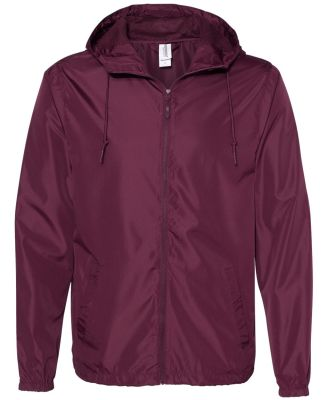Independent Trading Co. EXP54LWZ Windbreaker Light Maroon
