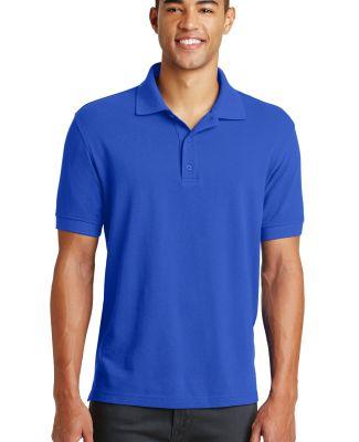 Eddie Bauer EB100  Cotton Pique Polo Brilliant Blue