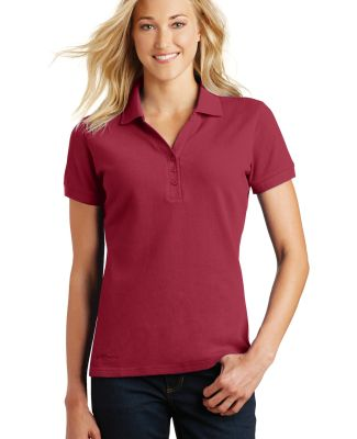 Eddie Bauer EB101  Ladies Cotton Pique Polo Red Rhubarb