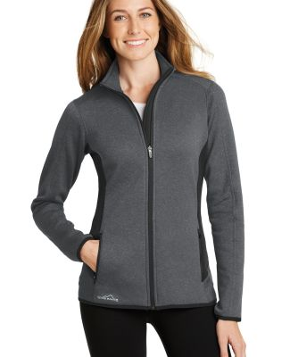 Eddie Bauer EB239  Ladies Full-Zip Heather Stretch Dark Char Hthr