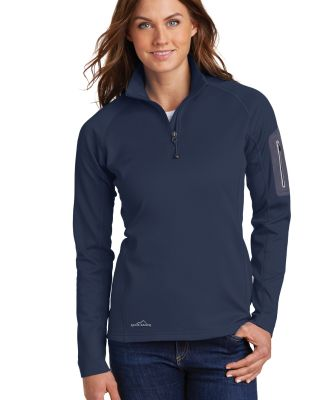 Eddie Bauer EB235  Ladies 1/2-Zip Performance Flee River Blue