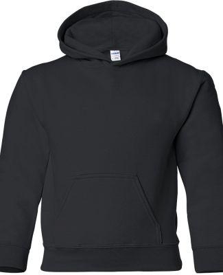 G185B Gildan Youth 7.75 oz. Heavy Blend™ 50/50 H BLACK