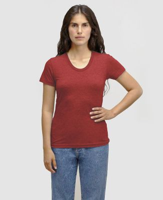 Los Angeles Apparel TR3001 Women's Tri-Blend Track Tri-Cranberry