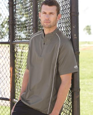 Rawlings 9702 Short Sleeve Poly Dobby Quarter-Zip Pullover Catalog