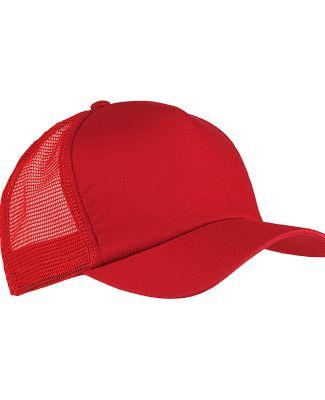 BX010 Big Accessories 5-Panel Twill Trucker Cap RED