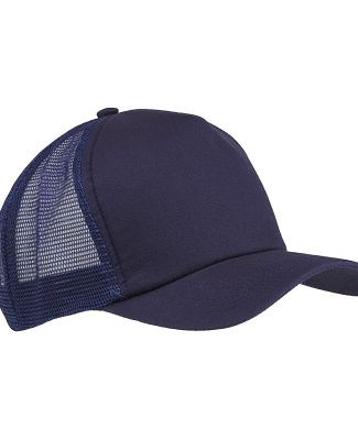 BX010 Big Accessories 5-Panel Twill Trucker Cap NAVY