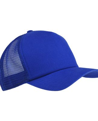 BX010 Big Accessories 5-Panel Twill Trucker Cap ROYAL