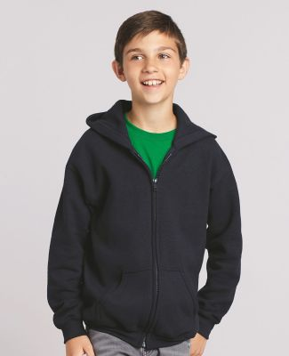 G186B Gildan Youth 7.75 oz. Heavy Blend™ 50/50 Full-Zip Hood Catalog