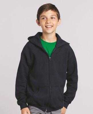 G186B Gildan Youth 7.75 oz. Heavy Blend™ 50/50 Full-Zip Hood Catalog