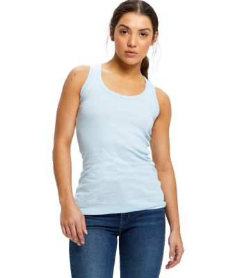 US Blanks US500 Ladies' 4.4 oz. Beater Tank Baby Blue