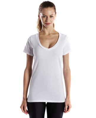 US Blanks US120OR Ladies' 4.3 oz. Organic Cotton S White